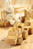 toys деревянное стоковое изображение