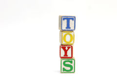 Toys. Block letters spelling word 'toys Royalty Free Stock Photography
