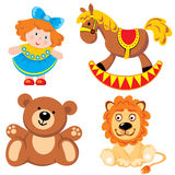 Toys. Set of  images. Children's toys Royalty Free Stock Images