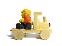 Toys. Toy train made of  wood Royalty Free Stock Images