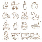 Toys. Set of children's toys Stock Images