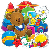 Toys. Toy Illustration for children. A series Baby Stock Photography