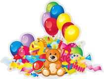Toys. Colorful children toys and balloons Royalty Free Stock Image