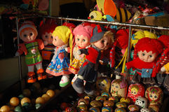 Toys. On display for sale at a stall in the Summer Palace, Beijing, China Royalty Free Stock Image