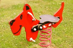 Toys. A spring toy at a childrens playground Royalty Free Stock Photos