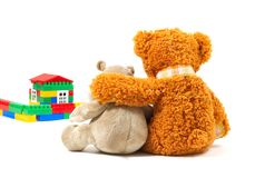 Toys. Isoleted on white. Represent happy family Stock Photography