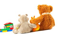 Toys. Isoleted on white. Represent happy family Stock Photos