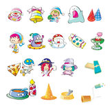 Toys. Illustration of set of children toys Royalty Free Stock Photography