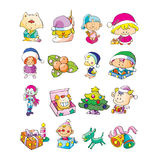 Toys. Illustration of set of children toys Royalty Free Stock Photo