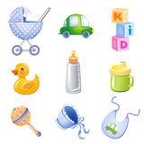 Toys and accessories Royalty Free Stock Photos