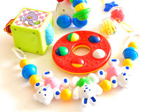 Toys for baby. Toys for infants that can gnaw Stock Photo