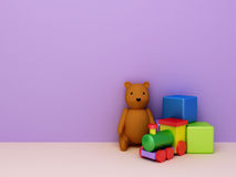Toys background Stock Photo