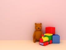 Toys background Stock Image