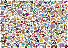 Toys background Stock Images