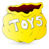 Toys Bag - Christmas Vector Illustration Royalty Free Stock Photography