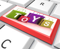 Toys Bags Key Shows Retail Shopping and Buying. Toys Bags Key Showing Retail Shopping and Buying vector illustration
