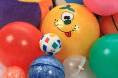 Toys balls. Toys, All kind of colored balls royalty free stock photography