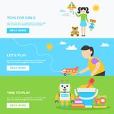Toys Banner Set Royalty Free Stock Photography