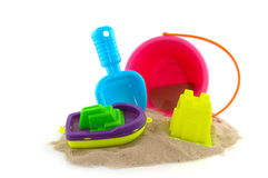 Toys at the beach Stock Photography