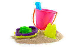 Toys at the beach Royalty Free Stock Photography