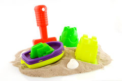 Toys at the beach Stock Photos