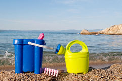 Toys for the beach Stock Images