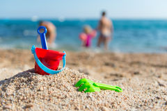Toys at the beach Royalty Free Stock Image