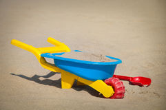 Toys beach in the sand Royalty Free Stock Image
