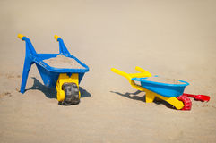 Toys beach in the sand Royalty Free Stock Photo