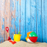 Toys at the beach Stock Photo