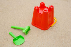 Toys beach in the sand Stock Photography