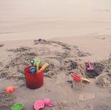 Toys On Beach Stock Photography