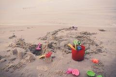 Toys On Beach Royalty Free Stock Photos