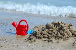 Toys on the beach Stock Photography
