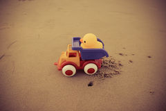 Toys On The Beach Royalty Free Stock Images