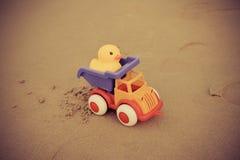 Toys On The Beach Stock Photos