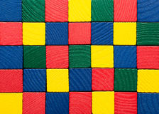 Toys blocks, painted wooden square bricks, color b Royalty Free Stock Photo