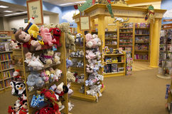Toys and books in children bookstore