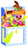Toys in the box. Colorful box with children's  toys Stock Photography