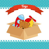 Toys box Stock Photos