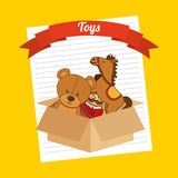 Toys box Royalty Free Stock Photo