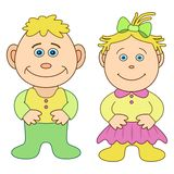 Toys, boy and girl Royalty Free Stock Photography