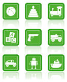 Baby toys. Vector icons. Stock Photo