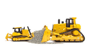 Toys bulldozers Stock Photos