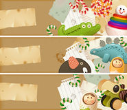Toys, candy & childhood memories stock illustration