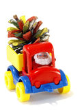 Toys, car-truck and Santa Claus with gifts Stock Photo