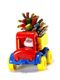 Toys, car-truck and Santa Claus with gifts Royalty Free Stock Image
