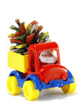 Toys, car-truck and Santa Claus with gifts Royalty Free Stock Images
