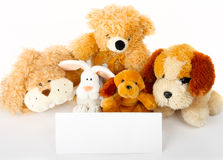 Toys with card Royalty Free Stock Images