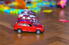 Toys cars. Toy Cars on wooden background Royalty Free Stock Images